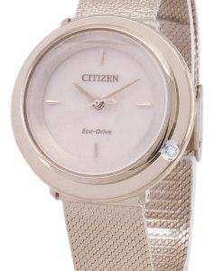 シチズンエコ ドライブ L EM0643-84 X アナログ ダイヤモンド アクセント レディース腕時計
