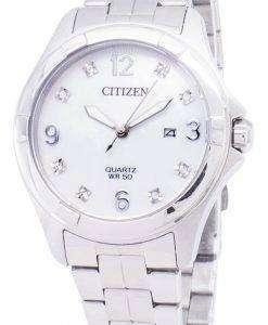 市民石英 EU6080-58 D ダイヤモンド アクセント レディース腕時計