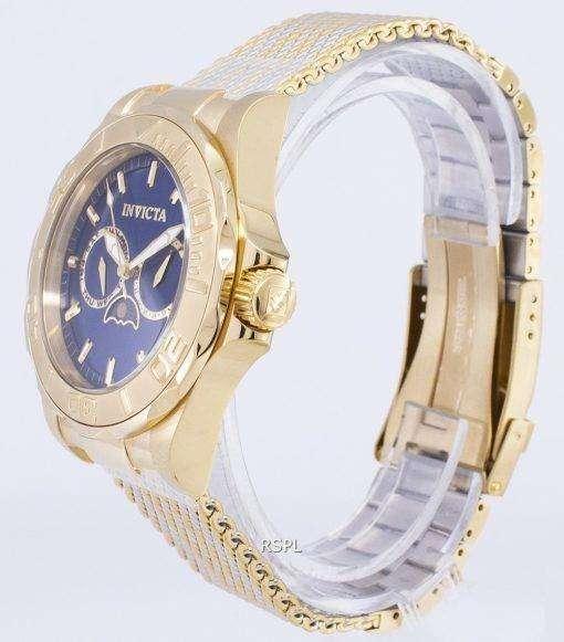 インビクタ Pro ダイバー 24993 月相アナログ クオーツ メンズ腕時計