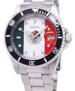 インビクタ Pro ダイバー 28702 限定世界サッカー メキシコ版自動 200 M メンズ腕時計