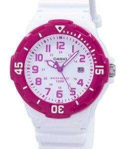 カシオ アナログ ホット ピンク ホワイト ダイヤル LRW 200 H 4BVDF LRW 200 H 4BV レディース腕時計