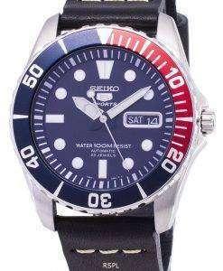 セイコー 5 スポーツ SNZF15K1 LS14 自動黒革ストラップ メンズ腕時計