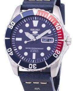 セイコー 5 スポーツ SNZF15K1 LS15 自動ダークブルーのレザー ストラップ メンズ腕時計
