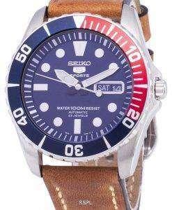 セイコー 5 スポーツ SNZF15K1 LS17 自動茶色の革ストラップ メンズ腕時計