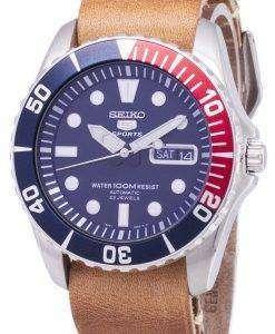 セイコー 5 スポーツ SNZF15K1 LS18 自動茶色の革ストラップ メンズ腕時計
