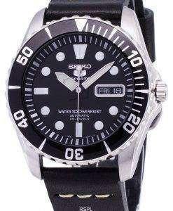 セイコー 5 スポーツ SNZF17K1 LS14 自動黒革ストラップ メンズ腕時計