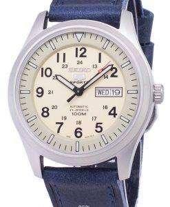 セイコー 5 スポーツ SNZG07K1 LS13 自動ダークブルーのレザー ストラップ メンズ腕時計