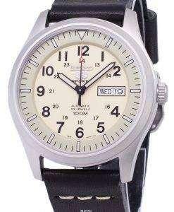 セイコー 5 スポーツ SNZG07K1 LS14 自動黒革ストラップ メンズ腕時計