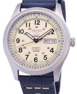 セイコー 5 スポーツ SNZG07K1 LS15 自動ダークブルーのレザー ストラップ メンズ腕時計
