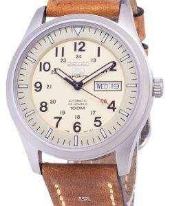 セイコー 5 スポーツ SNZG07K1 LS17 自動茶色の革ストラップ メンズ腕時計