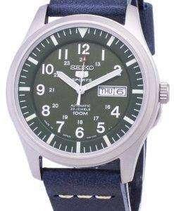 ダークブルーのレザー ストラップ メンズ腕時計セイコー 5 スポーツ SNZG09J1 LS15 日本
