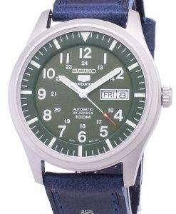 セイコー 5 スポーツ SNZG09K1 LS13 自動ダークブルーのレザー ストラップ メンズ腕時計