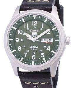 セイコー 5 スポーツ SNZG09K1 LS14 自動黒革ストラップ メンズ腕時計