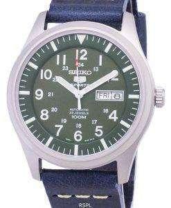 セイコー 5 スポーツ SNZG09K1 LS15 自動ダークブルーのレザー ストラップ メンズ腕時計