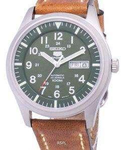 セイコー 5 スポーツ SNZG09K1 LS17 自動茶色の革ストラップ メンズ腕時計