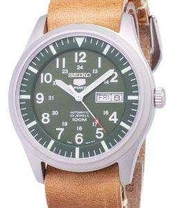 セイコー 5 スポーツ SNZG09K1 LS18 自動茶色の革ストラップ メンズ腕時計