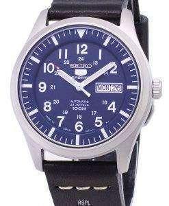 セイコー 5 スポーツ SNZG11J1 LS14 自動黒革ストラップ メンズ腕時計