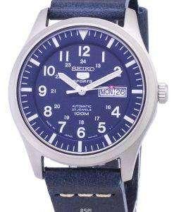 セイコー 5 スポーツ SNZG11J1 LS15 自動ダークブルーのレザー ストラップ メンズ腕時計