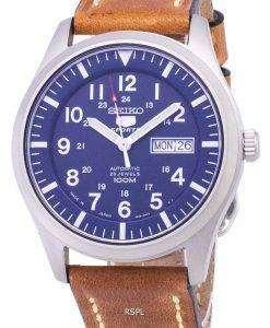 セイコー 5 スポーツ SNZG11J1 LS17 自動茶色の革ストラップ メンズ腕時計