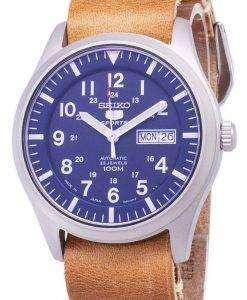 セイコー 5 スポーツ SNZG11J1 LS18 自動茶色の革ストラップ メンズ腕時計