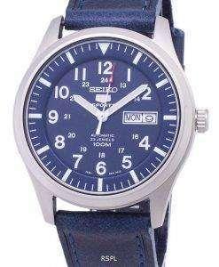 セイコー 5 スポーツ SNZG11K1 LS13 自動ダークブルーのレザー ストラップ メンズ腕時計