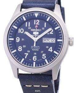 セイコー 5 スポーツ SNZG11K1 LS15 自動ダークブルーのレザー ストラップ メンズ腕時計