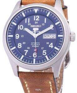 セイコー 5 スポーツ SNZG11K1 LS17 自動茶色の革ストラップ メンズ腕時計