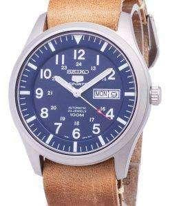 セイコー 5 スポーツ SNZG11K1 LS18 自動茶色の革ストラップ メンズ腕時計