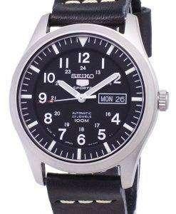 黒革ストラップ メンズ腕時計セイコー 5 スポーツ SNZG15J1 LS14 日本