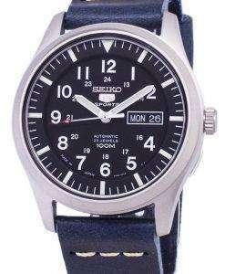 セイコー 5 スポーツ SNZG15J1 LS15 自動日本製ダークブルーのレザー ストラップ メンズ腕時計