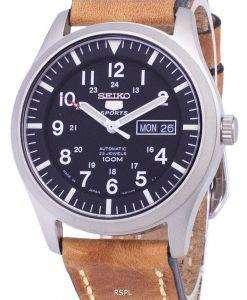 セイコー 5 スポーツ SNZG15J1 LS17 自動日本製ブラウン レザー ストラップ メンズ腕時計