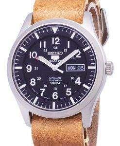 セイコー 5 スポーツ SNZG15J1 LS18 自動日本製ブラウン レザー ストラップ メンズ腕時計