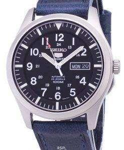 セイコー 5 スポーツ SNZG15K1 LS13 自動ダークブルーのレザー ストラップ メンズ腕時計