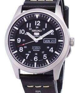 セイコー 5 スポーツ SNZG15K1 LS14 自動黒革ストラップ メンズ腕時計