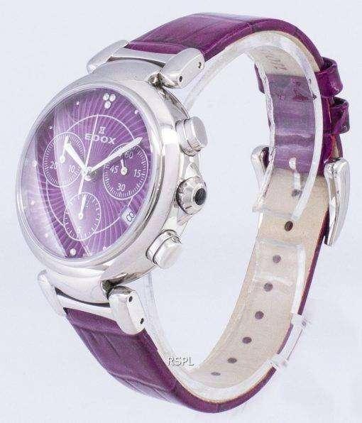Edox LaPassion 102203CROIN 10220 3 ROIN クロノグラフ クォーツ レディース腕時計