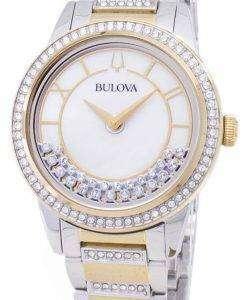 ブローバ結晶ターン スタイル 98 L 245 水晶ダイヤモンド アクセント レディース腕時計