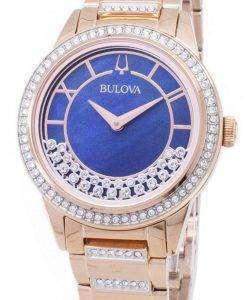 ブローバ結晶ターン スタイル 98 L 247 クォーツ ダイヤモンド アクセント レディース腕時計