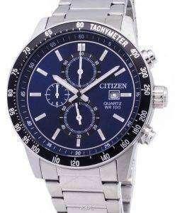 市民クロノグラフ AN3600-59 L タキメーター クォーツ メンズ腕時計