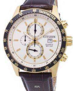 市民クロノグラフ AN3602 02A タキメーター クォーツ メンズ腕時計