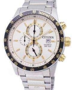 市民クロノグラフ AN3604 58 a タキメーター クォーツ メンズ腕時計