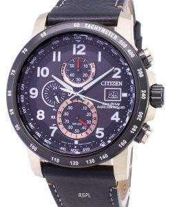 市民エコドライブ AT8126 02E クロノグラフ 200 M メンズ腕時計