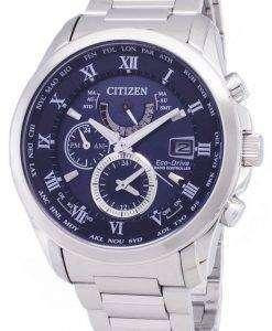 市民エコ ・ ドライブ AT9080-57 L 電波クロノグラフ メンズ腕時計