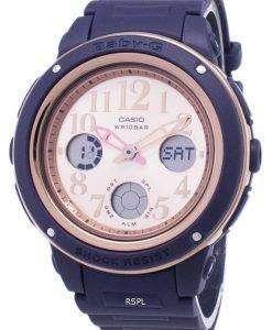 カシオベビー-G BGA 150PG 2B1 照明アナログ デジタル女性の腕時計