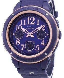 カシオベビー-G BGA 150PG 2B2 照明アナログ デジタル女性の腕時計