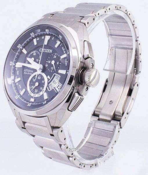 Attesa シチズンエコ ドライブ BY0020 59E チタン アナログ メンズ腕時計