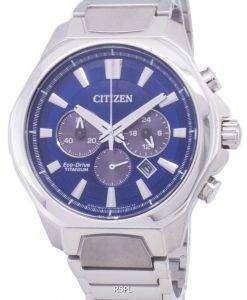 市民エコ ・ ドライブ CA4320-51 L チタン クロノグラフ メンズ腕時計