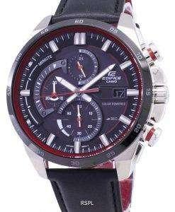 カシオエディフィス EQ-600BL-1 a ソーラー クロノグラフ メンズ腕時計