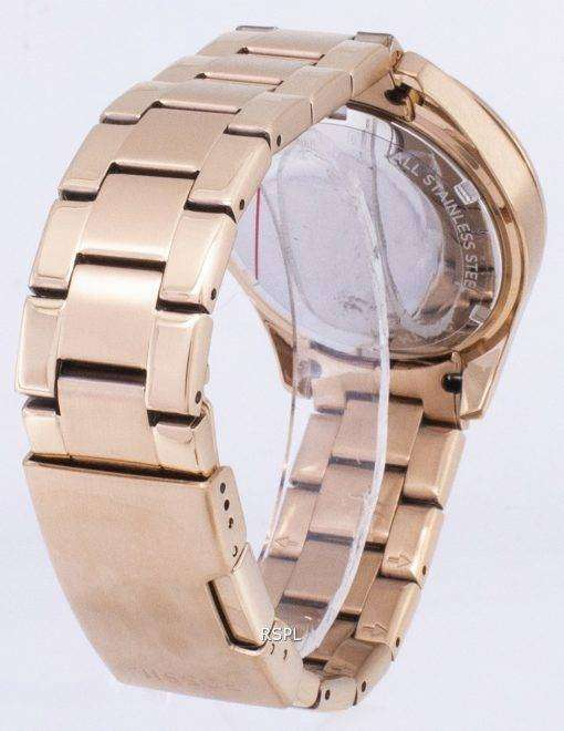 化石のライリー多機能クリスタル ローズ ゴールド ES2811 レディース腕時計