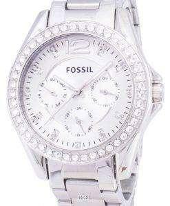 化石のライリー多機能クリスタル ダイヤル ES3202 レディース腕時計