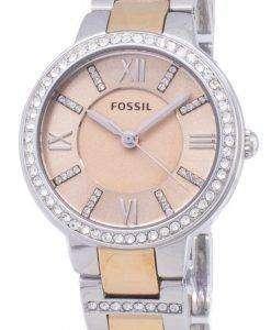 化石バージニア ローズ ダイヤル結晶ツートン カラー ES3405 レディース腕時計